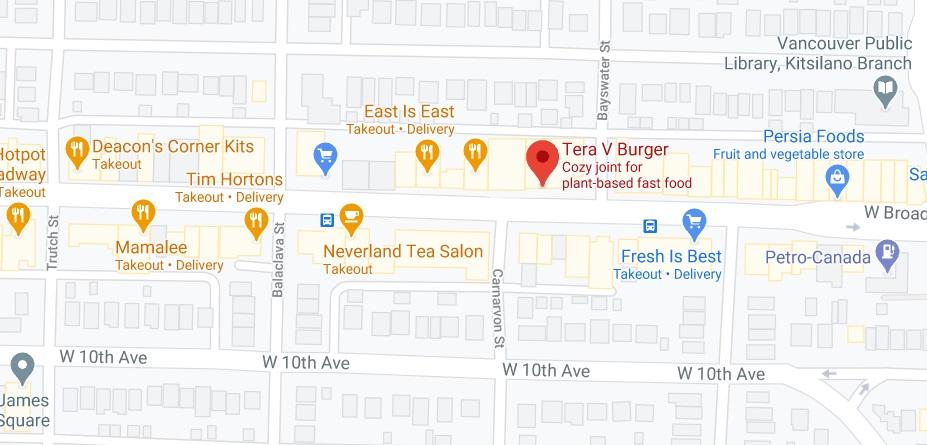 Tera V Burger Location