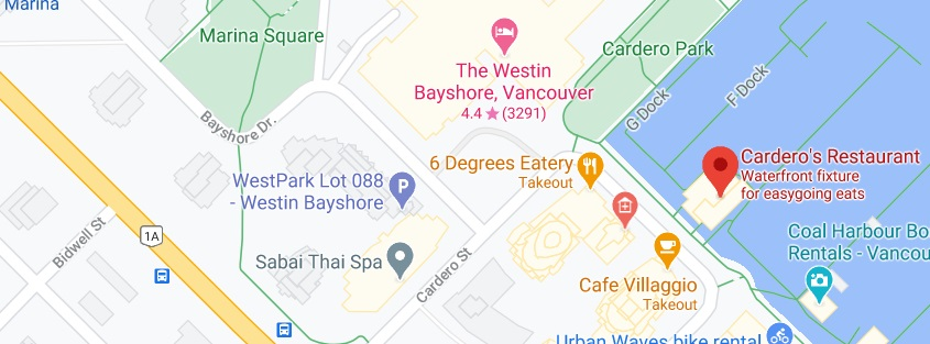 Cardero's Restaurant Location