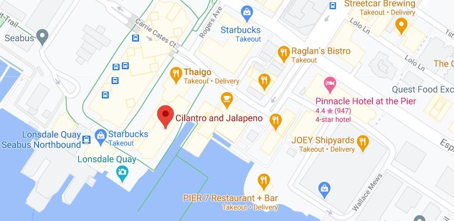 Cilantro and Jalapeno Location