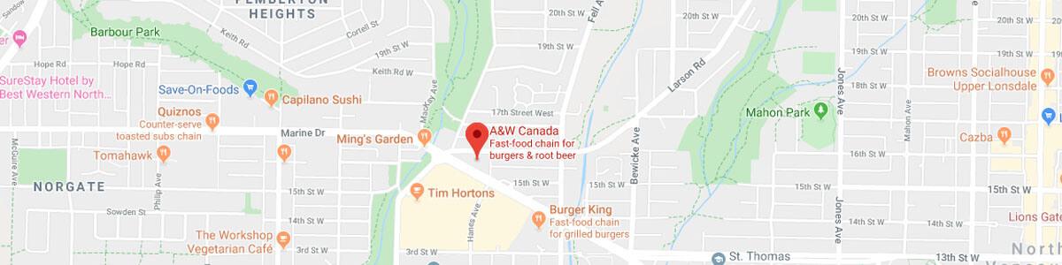 A&W Restaurant location