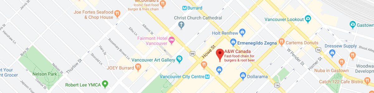 A&W Restaurant location