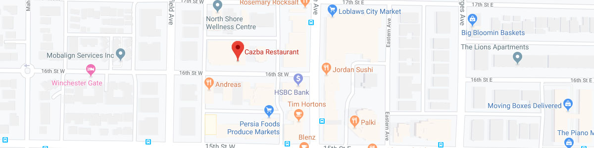 Cazba Restaurant location