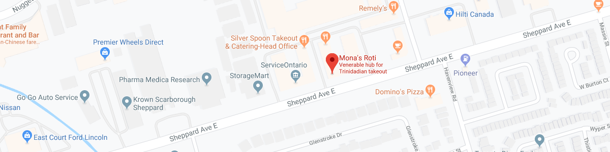 Mona's Roti-Caribbean Food location