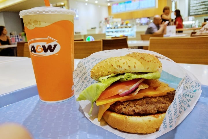 A&W Canada food