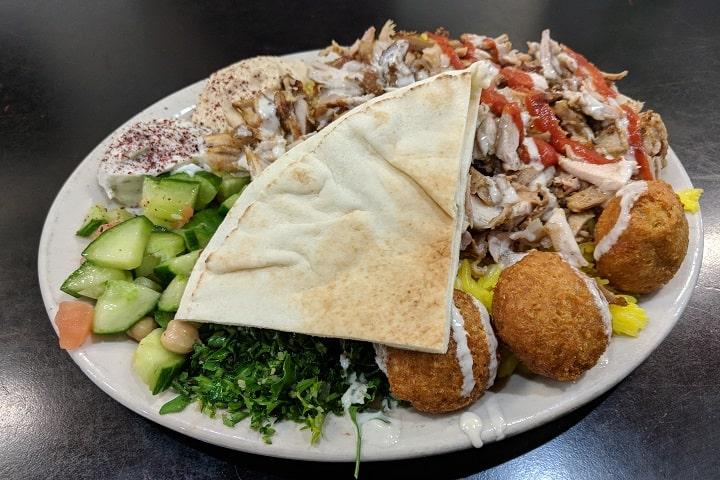 Baghdad Cafe food