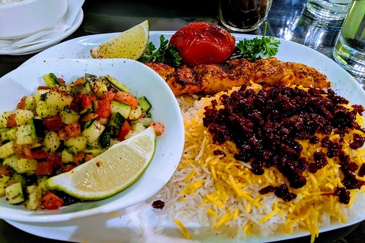 Zeitoon Restaurant food
