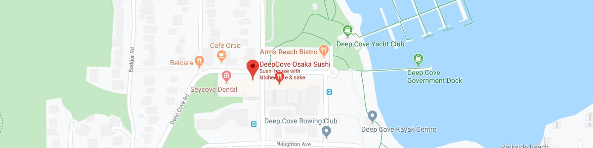 Deep Cove Osaka Sushi location