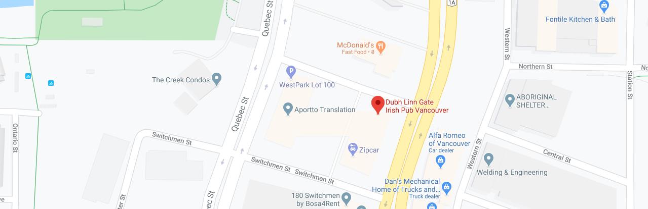 Dubh Linn Gate Irish Pub (Opening hours: 11 AM – 12 AM)