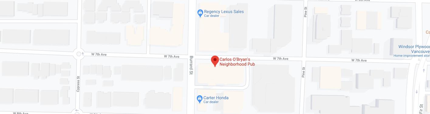 Carlos O'Bryan's Neighborhood Pub (Opening hours: 11 AM – 12 AM)