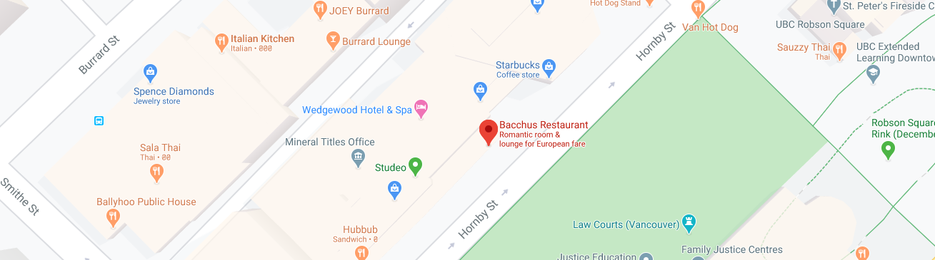 Bacchus Restaurant (Opening hours: 7 AM - 11 PM)