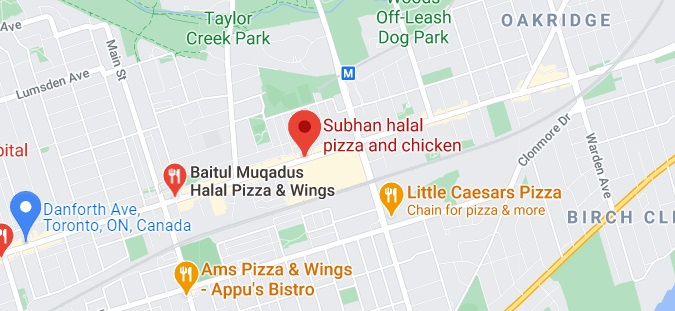 Subhan halal pizza and chicken