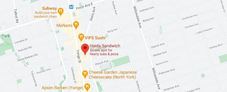 Haida Sandwich (Offering delivery service to Novotel Toronto Centre)