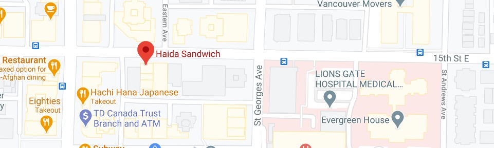 Haida Sandwich (Offering delivery service to Cypress Street)