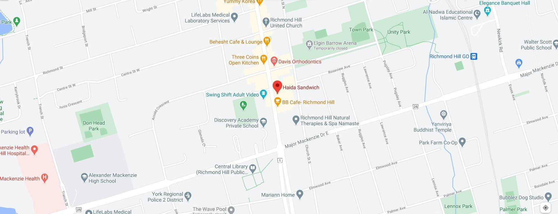 Haida Sandwich (Offering delivery service to Interchange Way)
