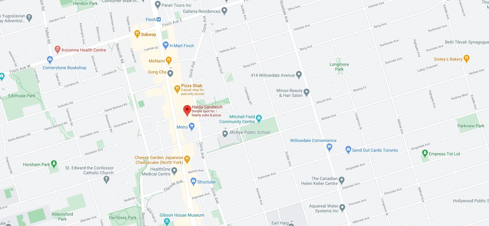 Haida Sandwich (offering delivery service near University of Toronto)