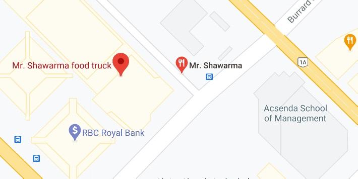 Mr. Shawarma food truck